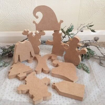 Free Standing MDF Christmas Shelfies - Choice of Sizes and LOADS of SHAPES 18mm