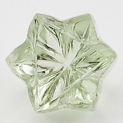 6Ct AAA Prasiolite (Vert Améthyste) Forme D'Etoile 11X11x8.5 mm Coupe Ample