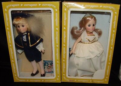 Effanbee Doll Dolls Set of 2 Sleeping Beauty Prince Charming Vintage Vtg w/ Box