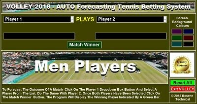 CDROM VOLLEY 2018 Auto Forecasting Tennis Betting System