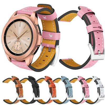 Cool Replacement Watch Leather Band Wrist Strap For Samsung Galaxy Watch 42/46mm