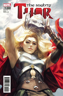 The Mighty Thor Vol. 2 -#705   Artgerm Variant Cover   Marvel Comics - 2018