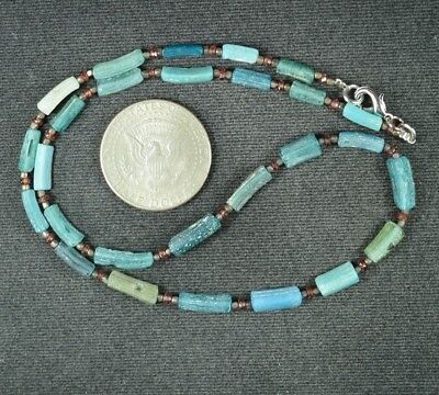 Ancient Roman Glass Beads 1 Medium Strand 100 -200 Bc 0966