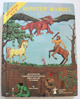 """Advanced Dungeons and Dragons - """"Monster Manual"""" von Gary Gygax - EXTREM SELTEN!"""