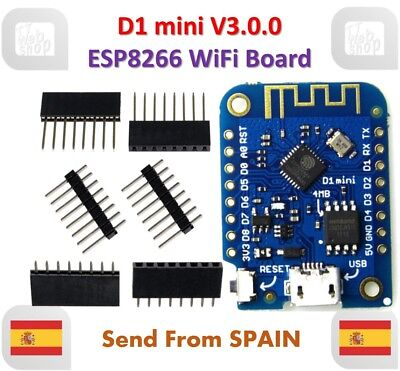 D1 mini V3.0.0 WIFI IoT Development Board ESP8266 4MB MicroPython NodeMCU WEMOS