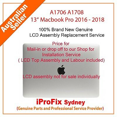 "Apple Macbook Pro13"" Retina A1706 A1708 Complete LCD Screen Assembly Grey Silver"