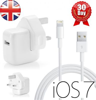 12W Mains Wall Charger Plug For Apple iPad Mini,Air,Pro,iPhone 6 6S 7 8 8 PLUS X