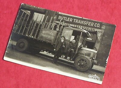 Real Photo Postcard - Model D - 3 Ton PACKARD Truck - Butler Transfer Co 1915-16