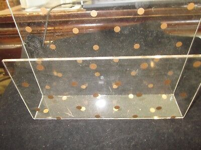 Acrylic Clear And Gold Dot Envelope And Paper Holder Used