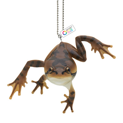 KITAN CLUB Japanese tree frog climbing PVC Mini Figure Figurine keychain brown