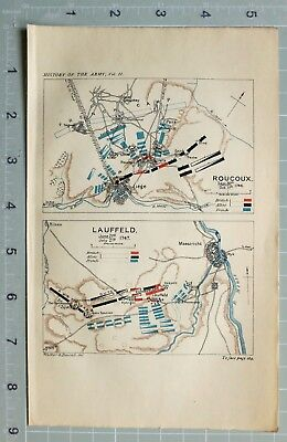 Map/battle Plan Roucoux Liege Sept 1746 ~ Lauffeld June 1747 Cumberland British
