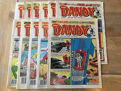 DANDY COMICS 1990s Vintage Collectable  Joblot - 11 Comics - Good Value