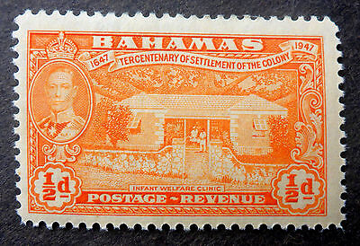 """Bahamas #132 Vf Mint Nh**(Infant Welfare) Engraved By """"canadian Banknote Co."""""""