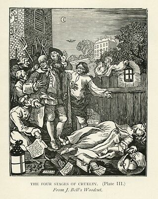 WILLIAM HOGARTH REWARD OF CRUELTY 1751 OLD MASTER ART PAINTING PRINT 3084OMLV