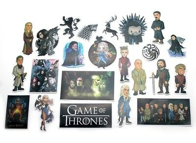 GAME OF THRONES Decal Stickers Random Assorted Lot Of 23 Pieces GREAT SET!!
