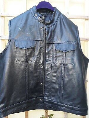 Mens XL gallanto Leather Waistcoat With Harley Badges