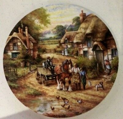 Wedgwood Country Days Collector Plate By Chris Howells - Early Morning Milk 1991