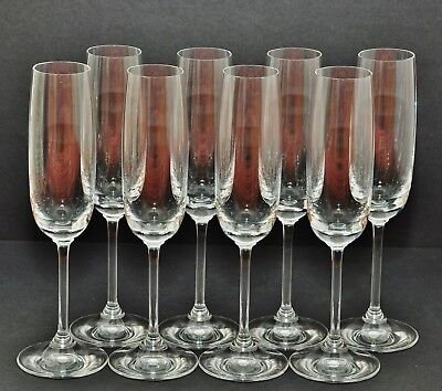 Marquis By Waterford Set X 8 Crystal Champagne Flute & Stemless Wine Glass New