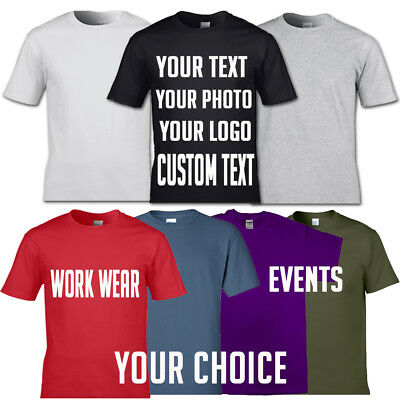 Custom printed personalized t-shirt unisex tee shirt stag hen workwear photos