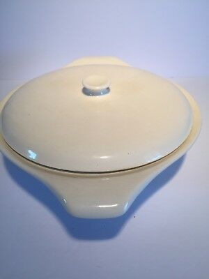 Russel Wright White Mid Century Modern Covered Casserole Dish
