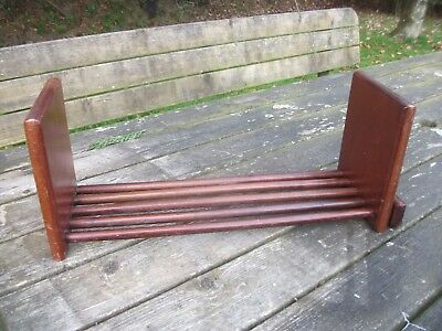 Vintage  Wooden Book Shelf.with A Slide Able Section.