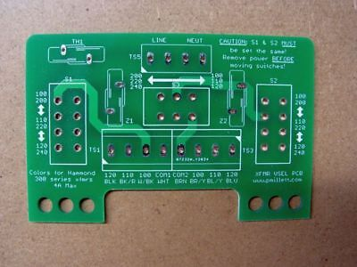DIY PCB - Voltage Selector / Input PCB for Multi-voltage Transformer Primaries