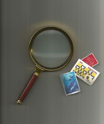 MAGNIFYING GLASS 90mm handheld magnifer... great for philatelic use....