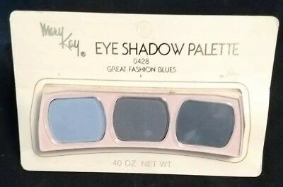Rare Vintage Nip Mary Kay Eye Shadow Pallette  3 Shades Great Fashion Blues 0428