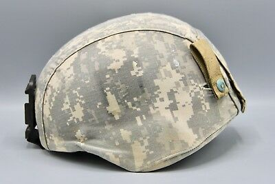 Combat Used Original US Army Advanced Combat Helmet with ACU Cover and NVG