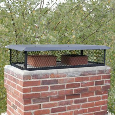 Multi-Flue Roof Chimney Cap Top Mount Black Galvanized Steel 29 in. x 17 in.