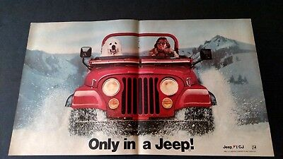 Only In A Jeep!  (1983) Rare Original Print Promo Poster Ad
