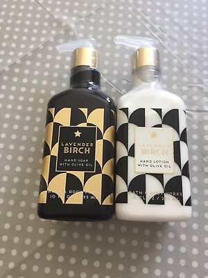Bath & Body Works Lavender Birch Hand Soap & Hand Lotion With Olive Oil