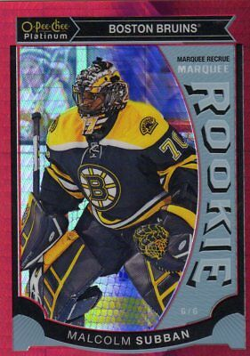 2015-16 Opc Platinum Malcom Subban Red Prism Rookie Card