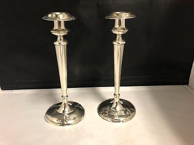 Pair Of Antique Shreve And Company Sterling Silver Candle Sticks