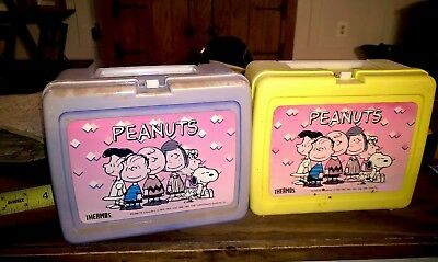 Vintage Peanuts LunchBox Lot Snoopy Charlie Brown Lucy