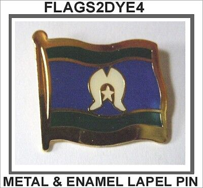 Torres Strait flag lapel pin badge INCLUDES AUSTRALIA POST TRACKING