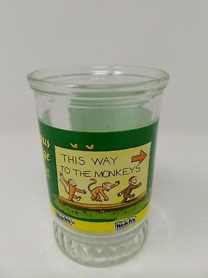 Vintage Welch's Jelly Curious George Juice Jar Glass #6 In Series