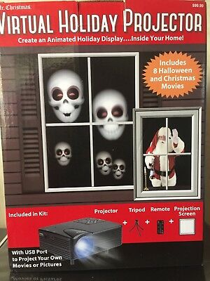 Halloween & Christmas Virtual Holiday Projector Movies New! By Mr. Christmas