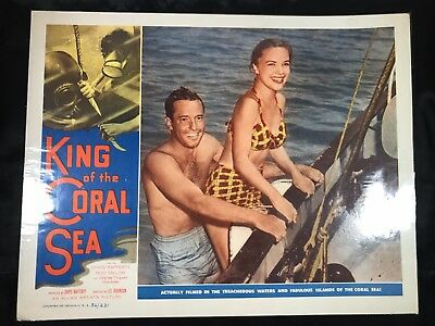 """KING OF THE CORAL SEA 11x14"""" Lobby Card - Chips Rafferty, Rod Taylor"""
