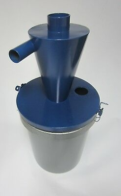 Cyclone Separator for 5 gallon bucket, steel, blue powder coat