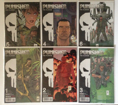 PUNISHER MAX: The Platoon #1-6 [6-Book Lot/Set] - Marvel (2017) - NM- - Ennis