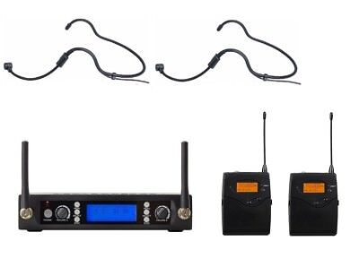 Wireless Headset Microphone for Church UHF Professional Cordless Headworn Set