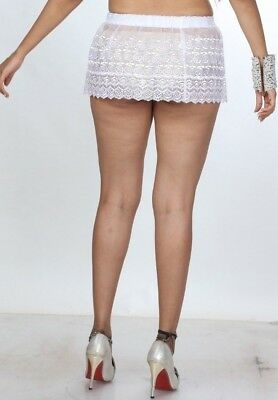 5f76800d99c Sheer Lace Mini Skirt See Through Party Micro Mini Short Skirts Stretch 027
