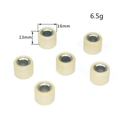 6.5g/pcs 16x13 Performance Scooter Variator Roller Weights fits GY6 50 80CC