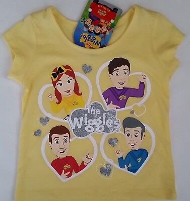 THE WIGGLES EMMA WIGGLE Licensed Girl tee t shirt top yellow NEW sizes 1-6