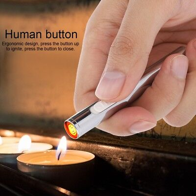 Electric Lighter Dual Arc Cigarette Plasma Windproof Flameless USB Rechargeable