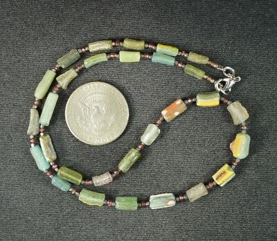 Ancient Roman Glass Beads 1 Medium Strand 100 -200 Bc 0968