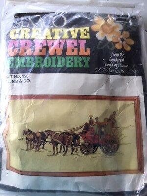 SEMCO - Crewel Embroidery Kit - Cobb & Co - Horse & Cart