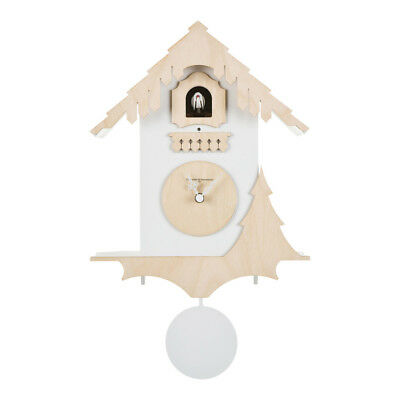 CHALET white / birch new wall clock take the classic idea of the Swiss house