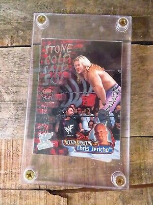 Stone Cold Said So on CHRIS JERICO Card in Case WWF WWE NXT TNA WCW